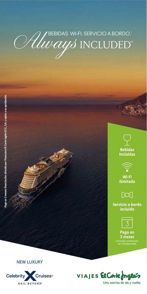 Viajes El Corte Inglés canarias   Celebrity Cruises