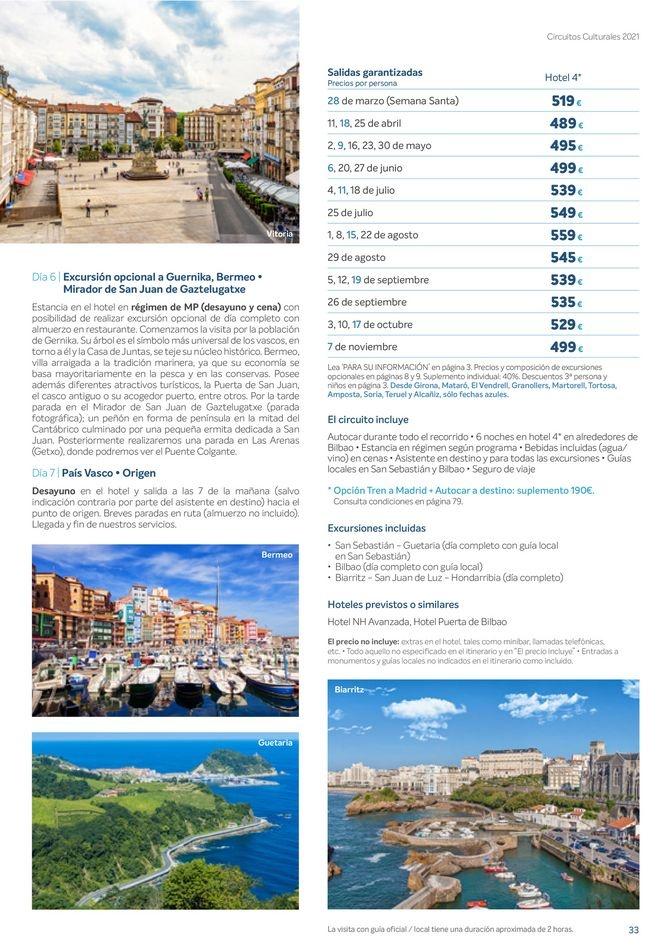Viajes El Corte Inglés canarias   Circuitos culturales zona Norte   ofertas