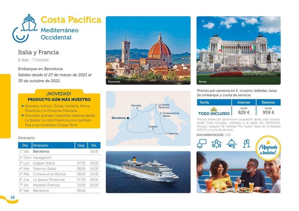 Viajes El Corte Inglés canarias   Costa Cruceros - Lo mejor de 2021   ofertas