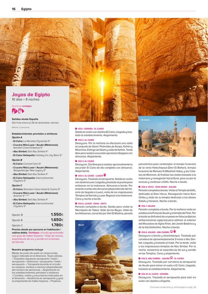 Viajes El Corte Inglés canarias   Egipto   ofertas