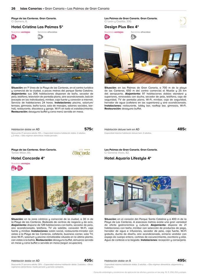 Viajes El Corte Inglés canarias   Islas 2021   ofertas